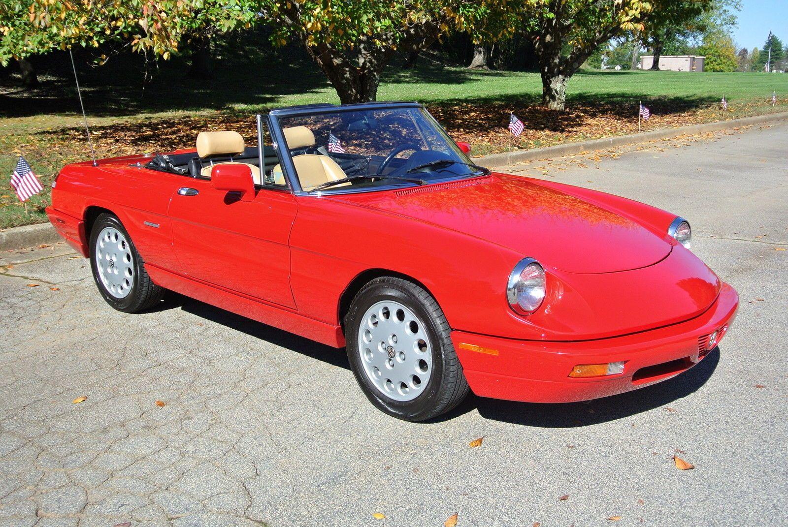 car brand auctioned:alfa romeo spider 2dr coupe ve alfa romeo 1991