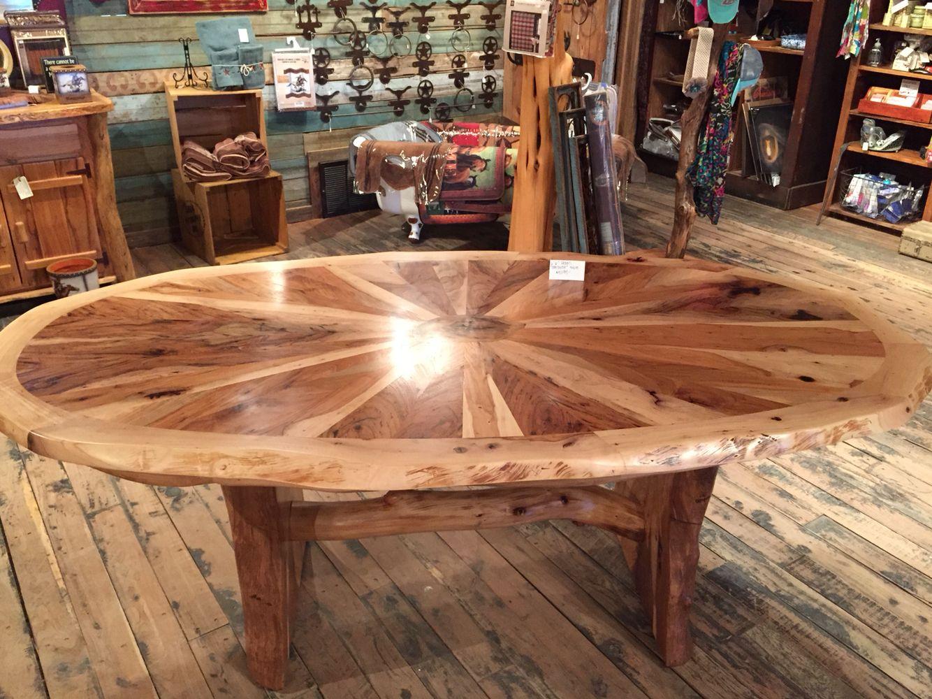 "6'6"" handmade pecan table"