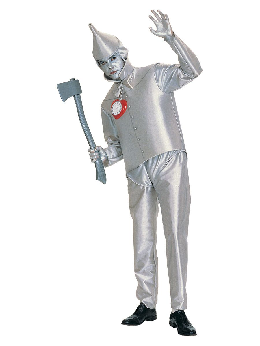 A pretty simple Tin man costume, silver face paint is definitely ...