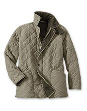 Nothing beats the luxurious comfort of this fleece-lined quilted jacket.