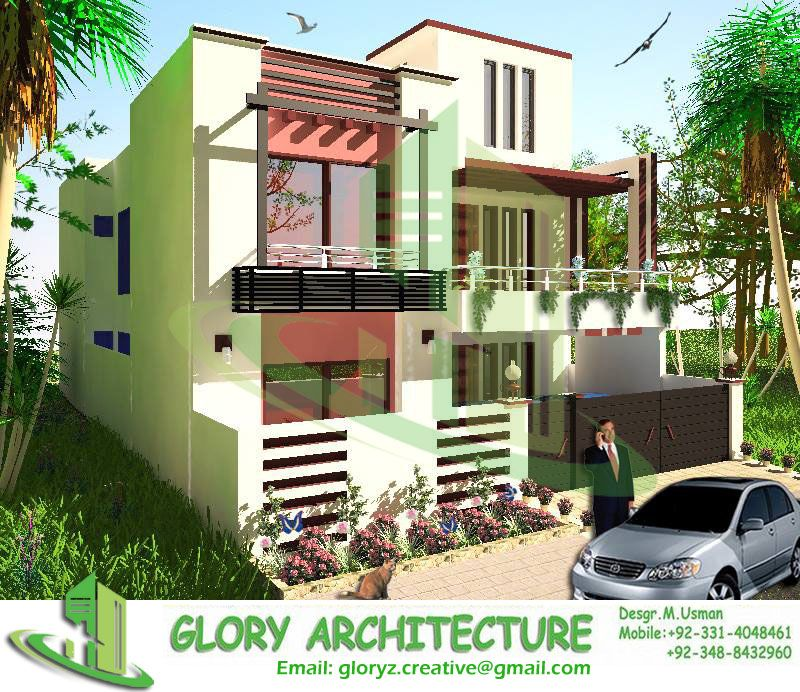Glory Architecture 25x50 House Elevation Islamabad: 30x60 House View Architectural Drawings. Structural