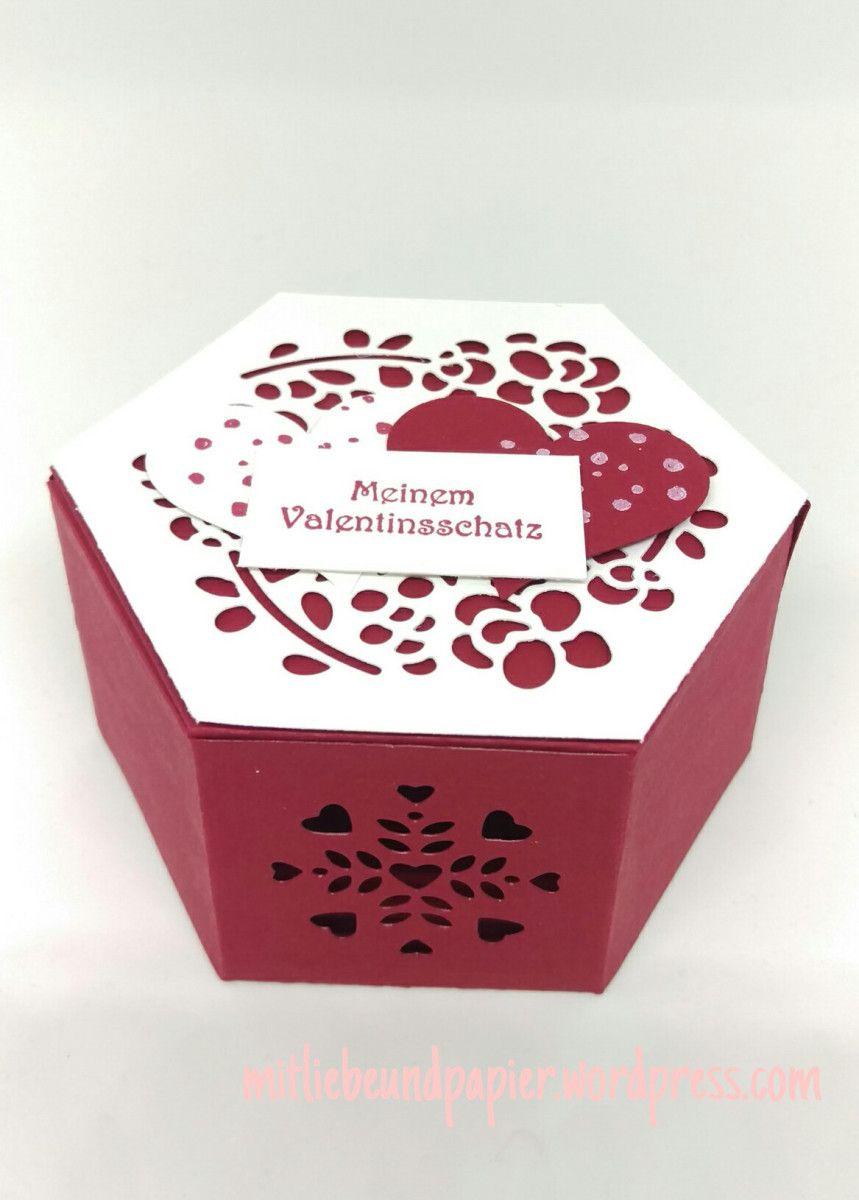 Stampin\' Up Fensterschachtel Valentinstag | Valentinstag, Stampin ...