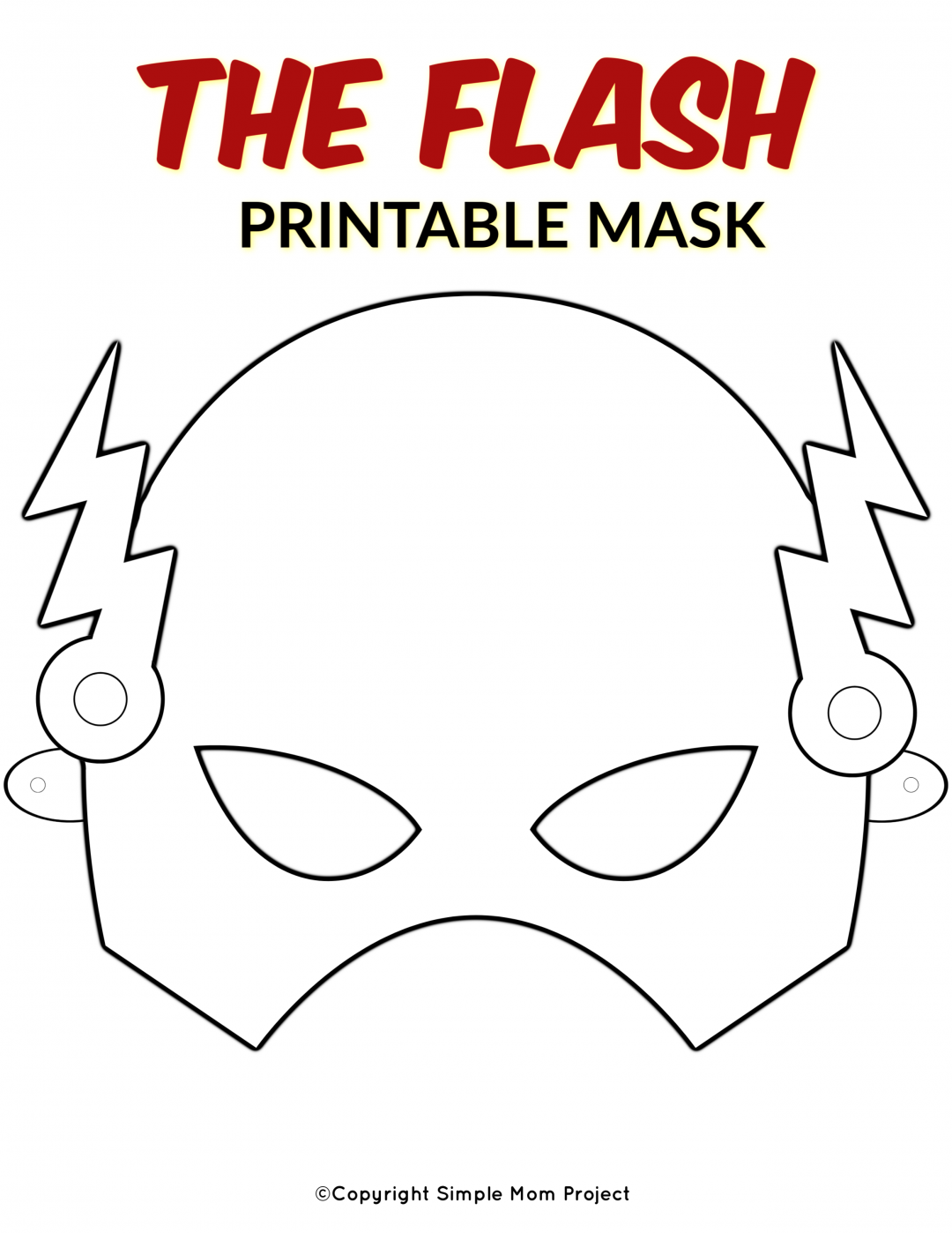 Free Printable Superhero Face Masks for Kids Simple Mom