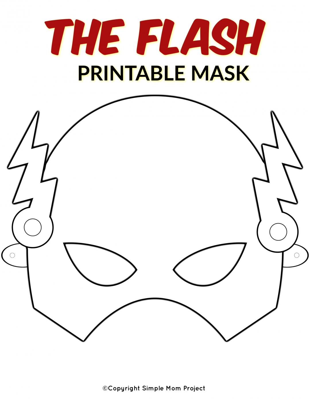 Free Printable Superhero Face Masks For Kids