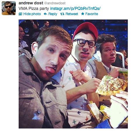 VMA pizza party