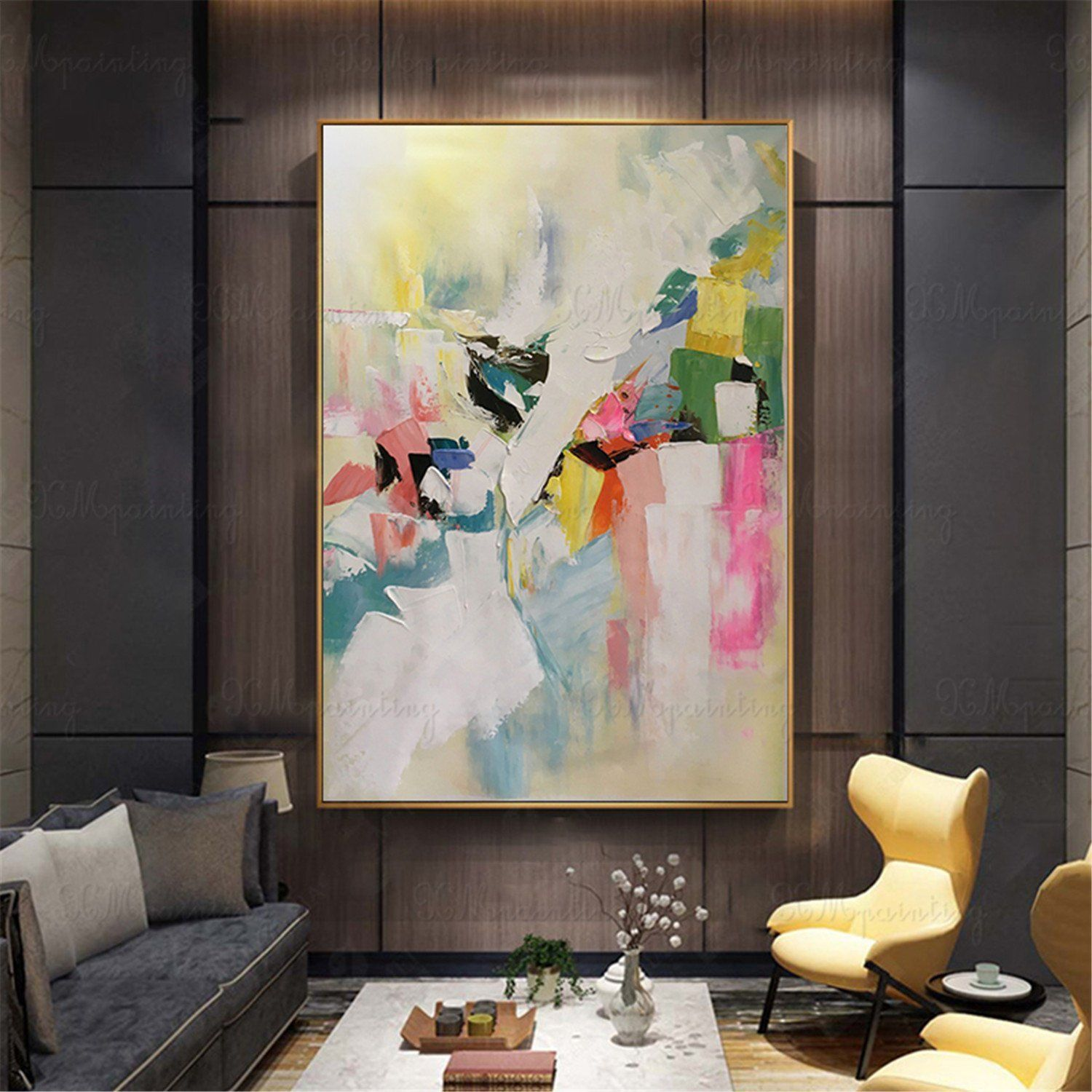 Abstract Painting Canvas Art Wall Art Pictures For Living Room Etsy Canvas Oil Painting Abstract Abstract Art Painting Abstract Canvas Painting #wall #art #paintings #for #living #room