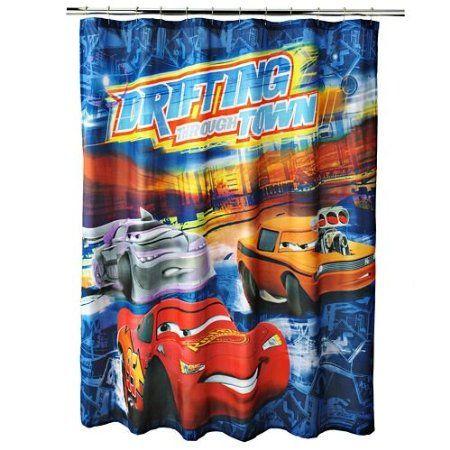 Disney Cars Shower Curtain | Bathroom | Disney cars ...