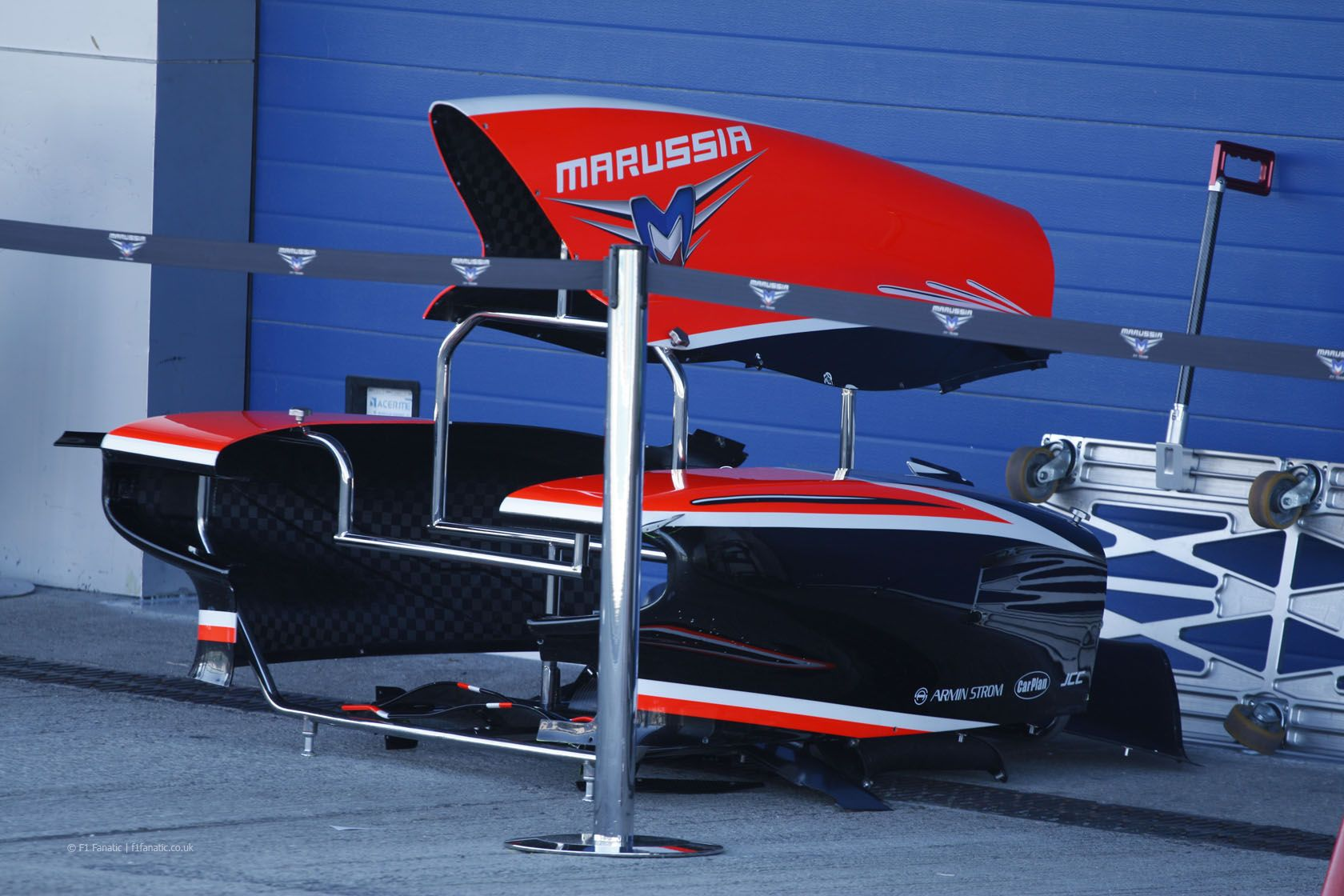 Marussia body work, Jerez Test (Day 1), 2013