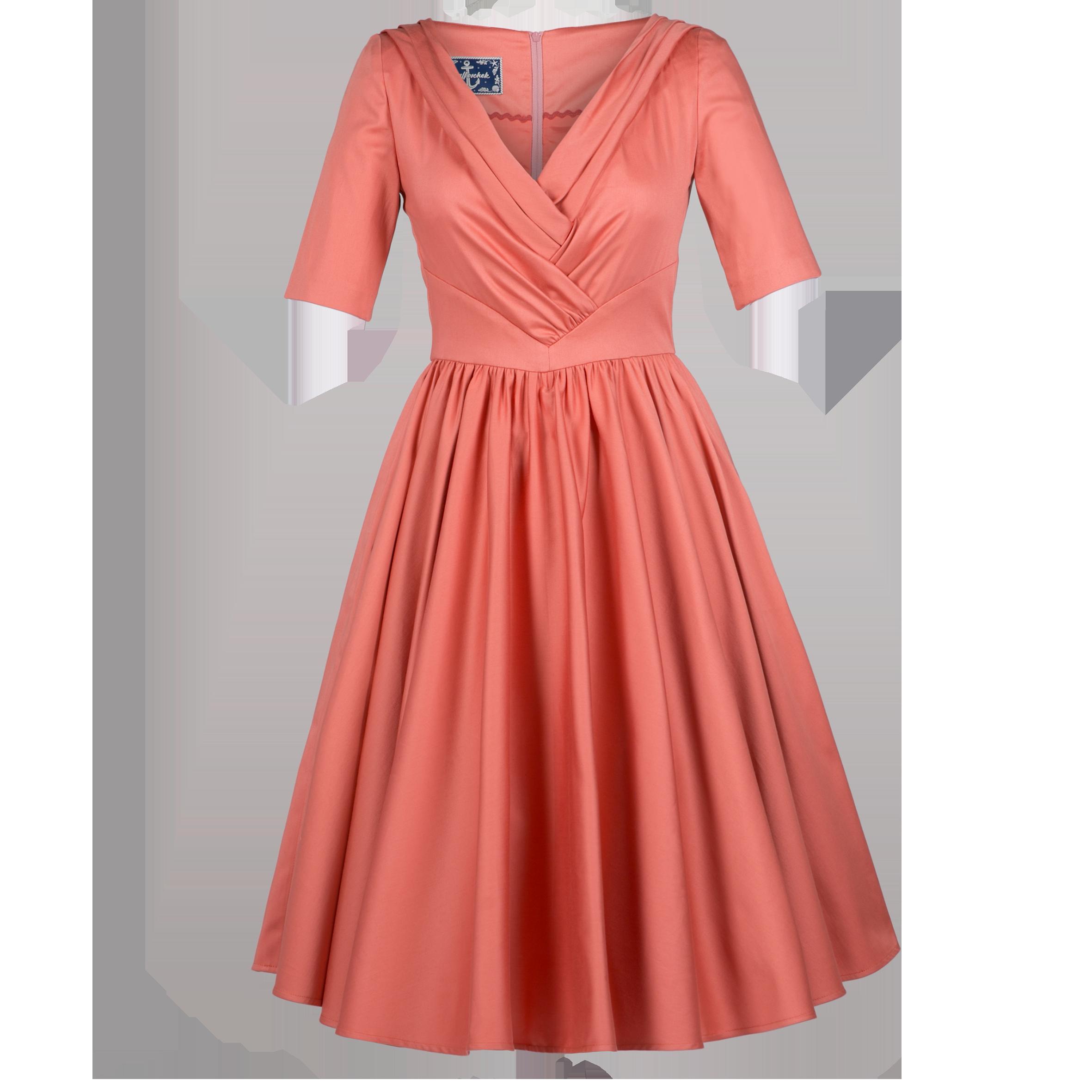 yves dress coral dresses ahoy ss17 online shop lena hoschek online shop ahoy lena. Black Bedroom Furniture Sets. Home Design Ideas