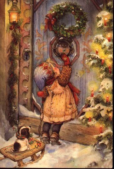 Weihnachtsbilder Nostalgie.Pin Von Nordlicht Auf Christmas Vintage Weihnachten Weihnachten