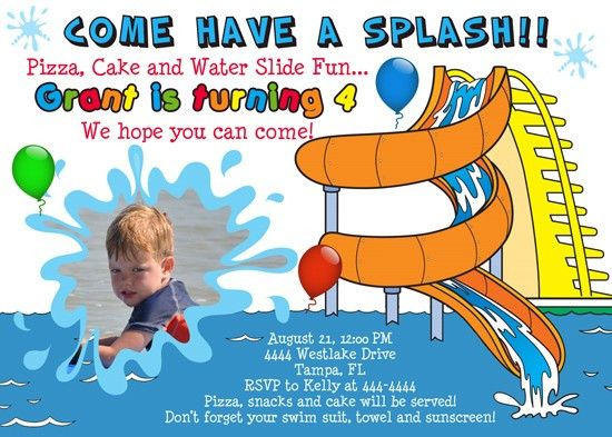 free invitation templates kids christmas waterpark – Water Park Party Invitations