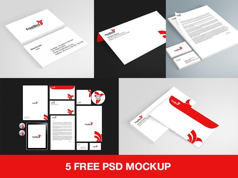 5 Psd Branding Stationery Mockup Free Download Stationery Mockup Free Mockup Free Download Stationery Branding
