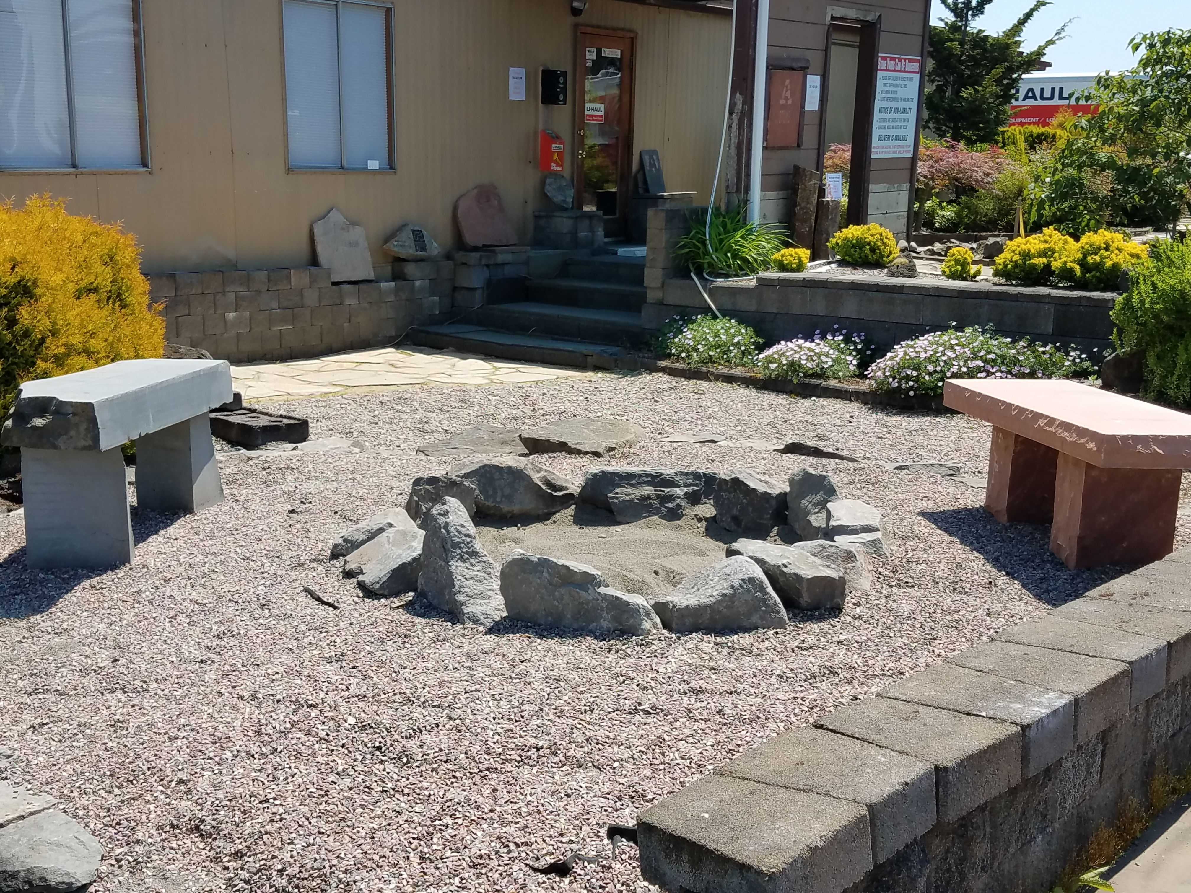 Easiest Diy Stone Fire Pit Ever, And It Does The