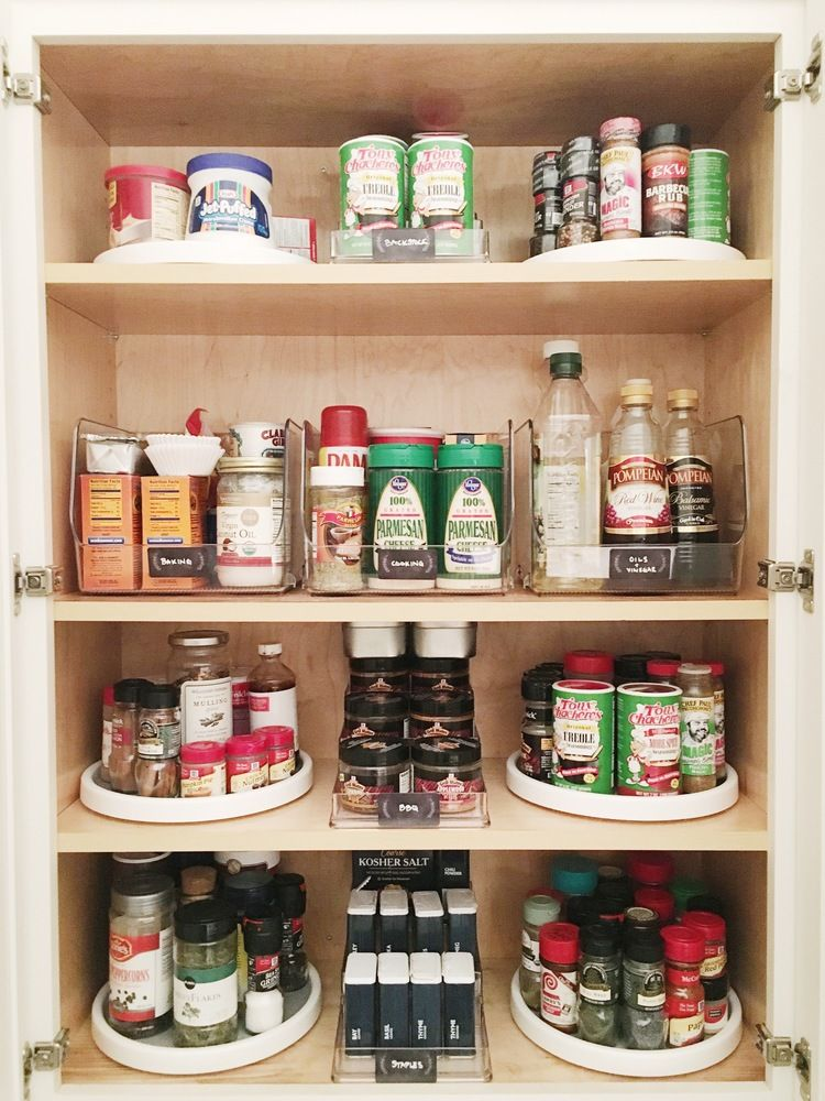 pin by ginger hallett on get organized lazy susan spice rack small pantry organization spice on kitchen organization lazy susan cabinet id=96582