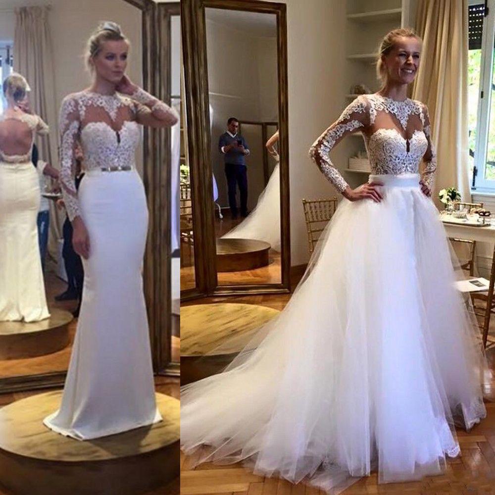 Vestidos novia falda desmontable