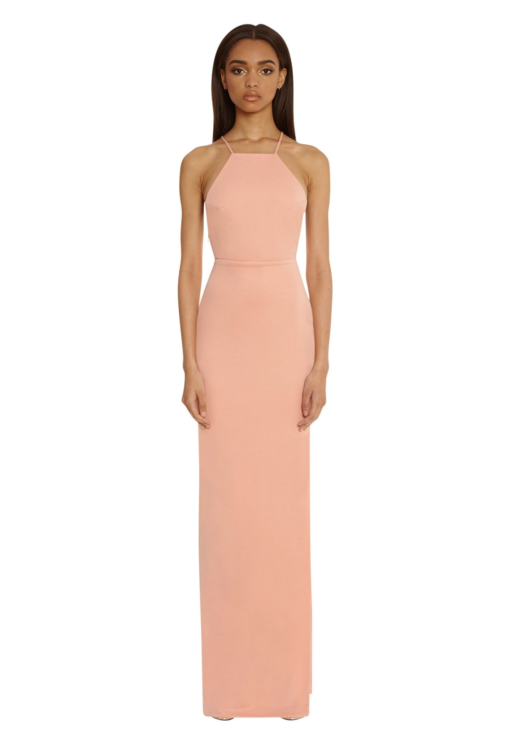 Crime Bodycon Maxi Dress with Side Split - Nude | Grad Inspiration ...