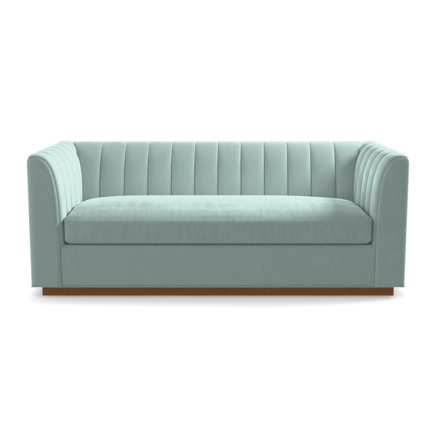 This Sleek And Oversized Sleeper Sofa Has A Channel Tufted Back That An Art Deco Flair With Modern Silhouette High Arms