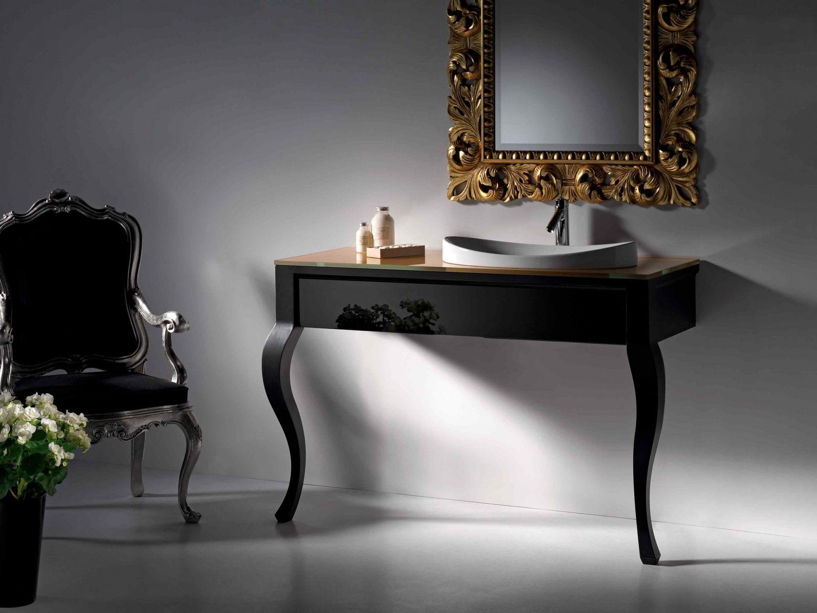 Artelinea | Sapphire Spaces   Black Vanity By Artelinea. Italian Design,  Glamorous Bathroom Design