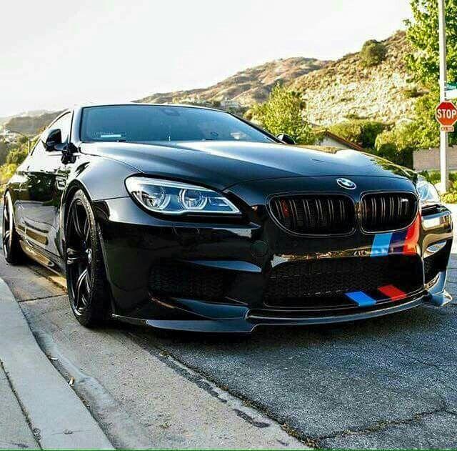 BMW F13 M6 black ///M stripe