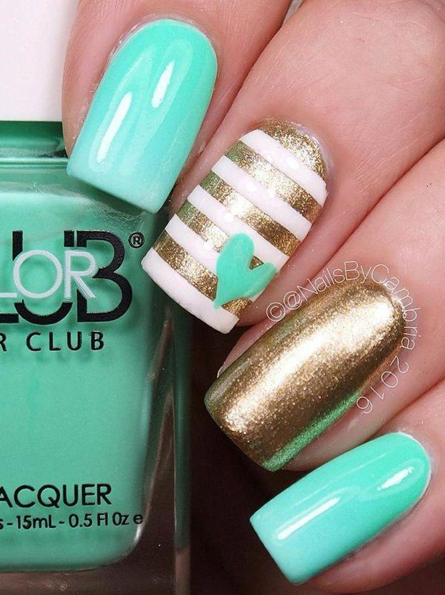 creative diy cute nail art #summernailart