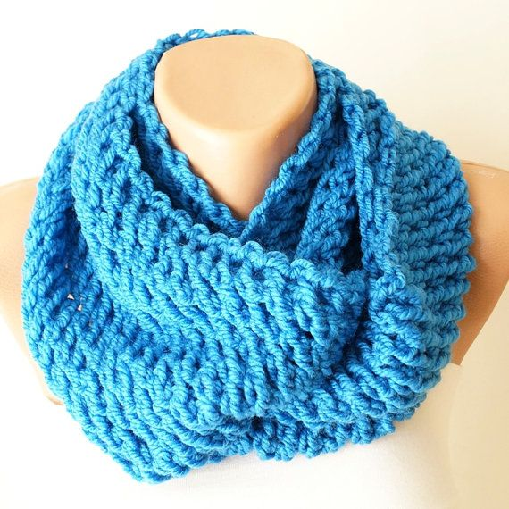 Infinity Scarf Loop Scarf Circle Scarf Winter Cowl  by Periay, $28.00