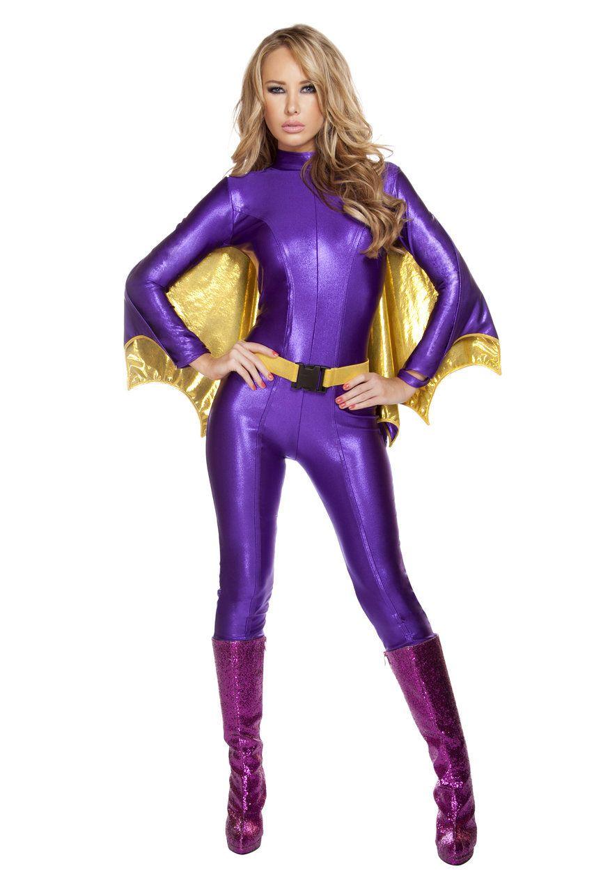 Sexy Roma Purpel Gold Sexy Bat Warrior BatGirl Superhero Comic ...