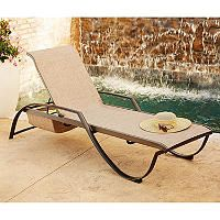 Member S Mark Sling Stacking Chaise Lounge Outdoor Daybed Sling Chaise Chaise Lounge