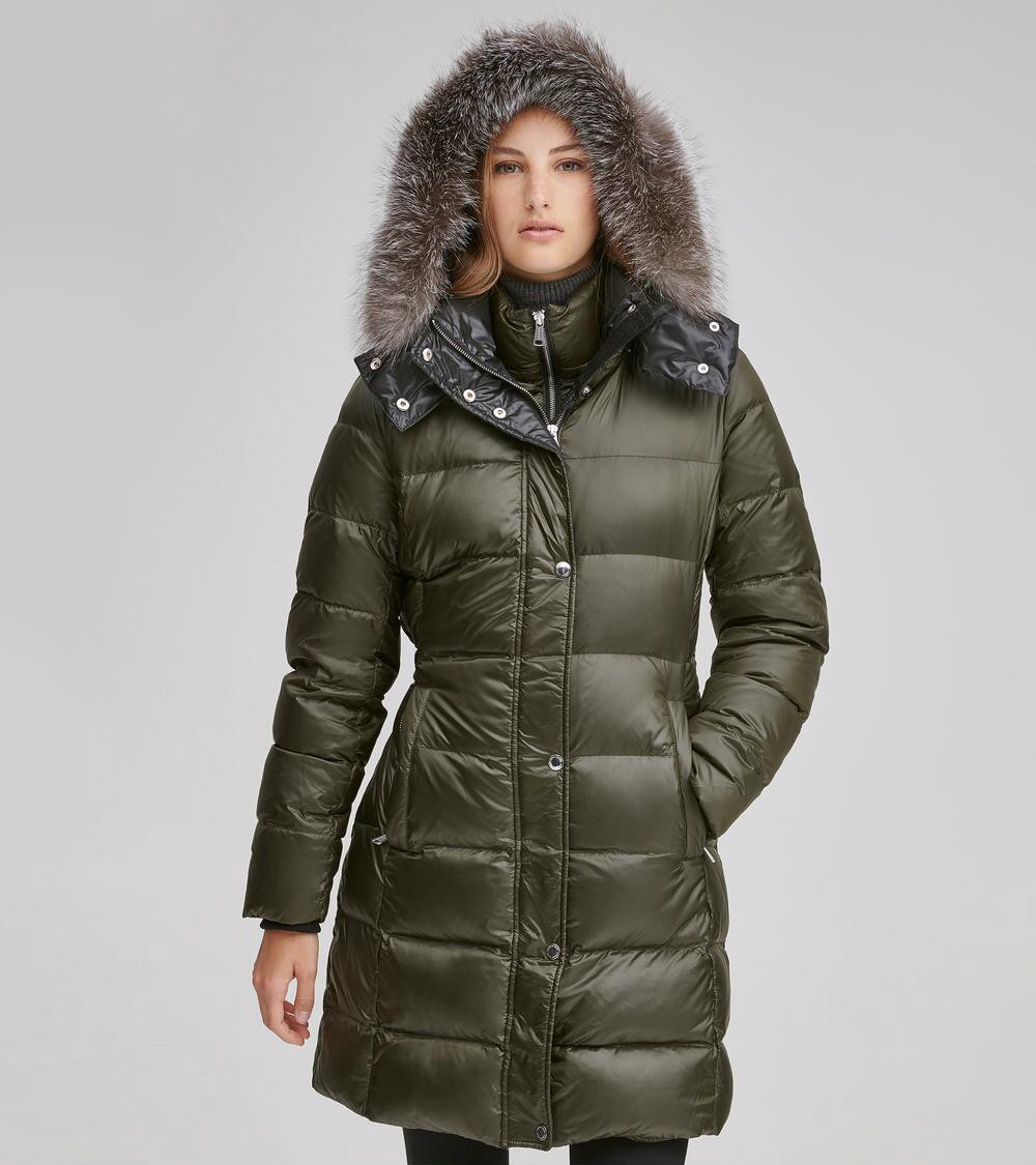 8147fb63668 Andrew Marc Skylar Quilted Down Jacket - Forest Green Xl
