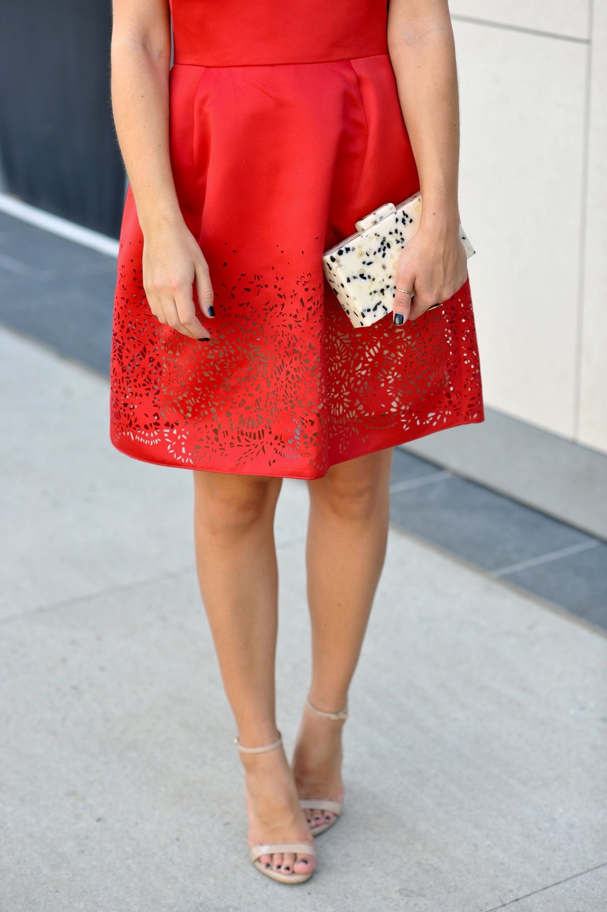 Marchesa notte off the shoulder red dress marchesa black tie and
