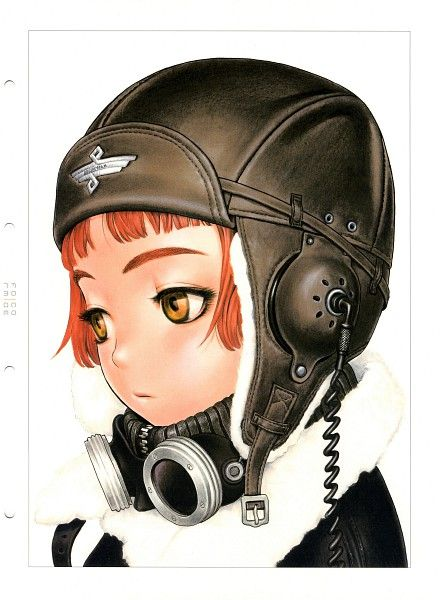 Lavie Head with air cap and goggles from Last Exile. By Range Murata. Here's his gallery: http://www.pseweb.com/page/gallery.html