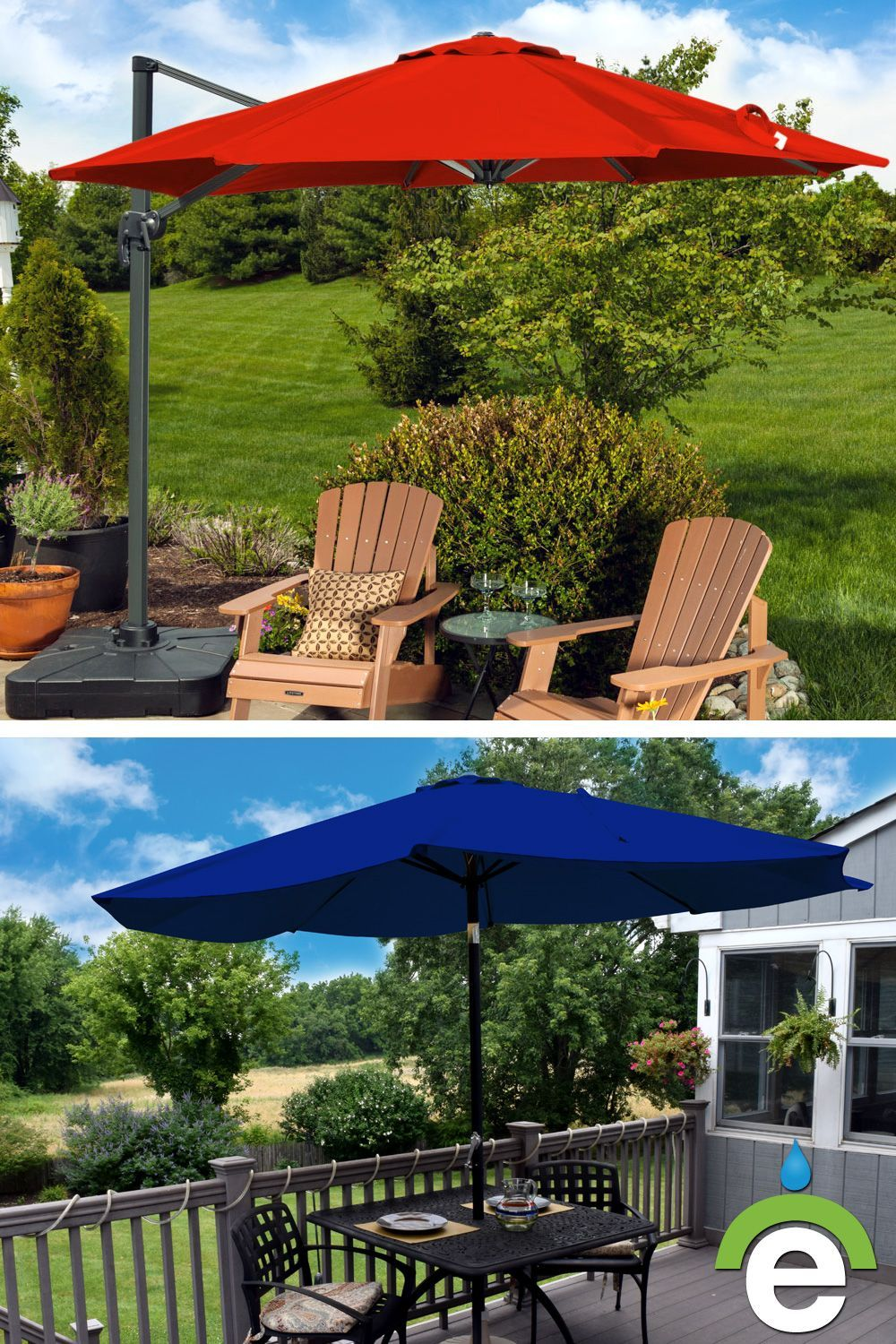 Our outdoor umbrellas are ideal for residential backyards and patios