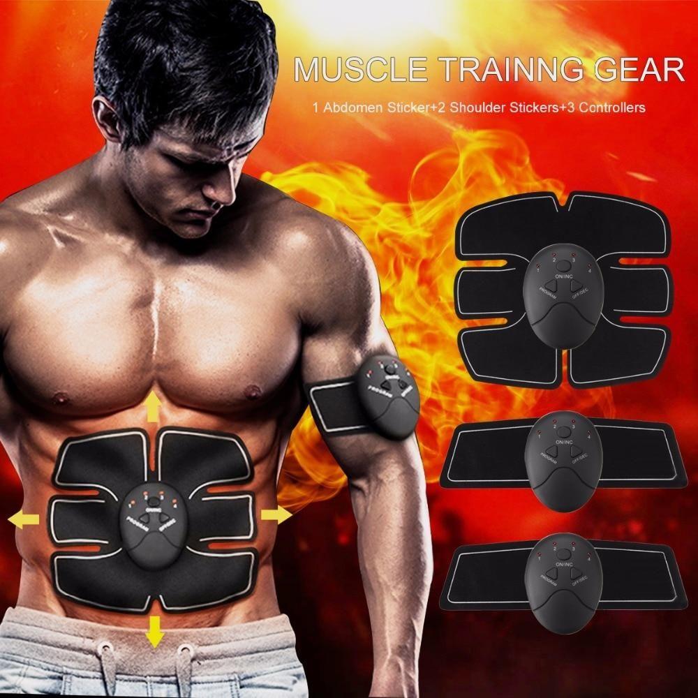 EMS Remote Control Abdominal Muscle Stimulator Training Smart body Fitness