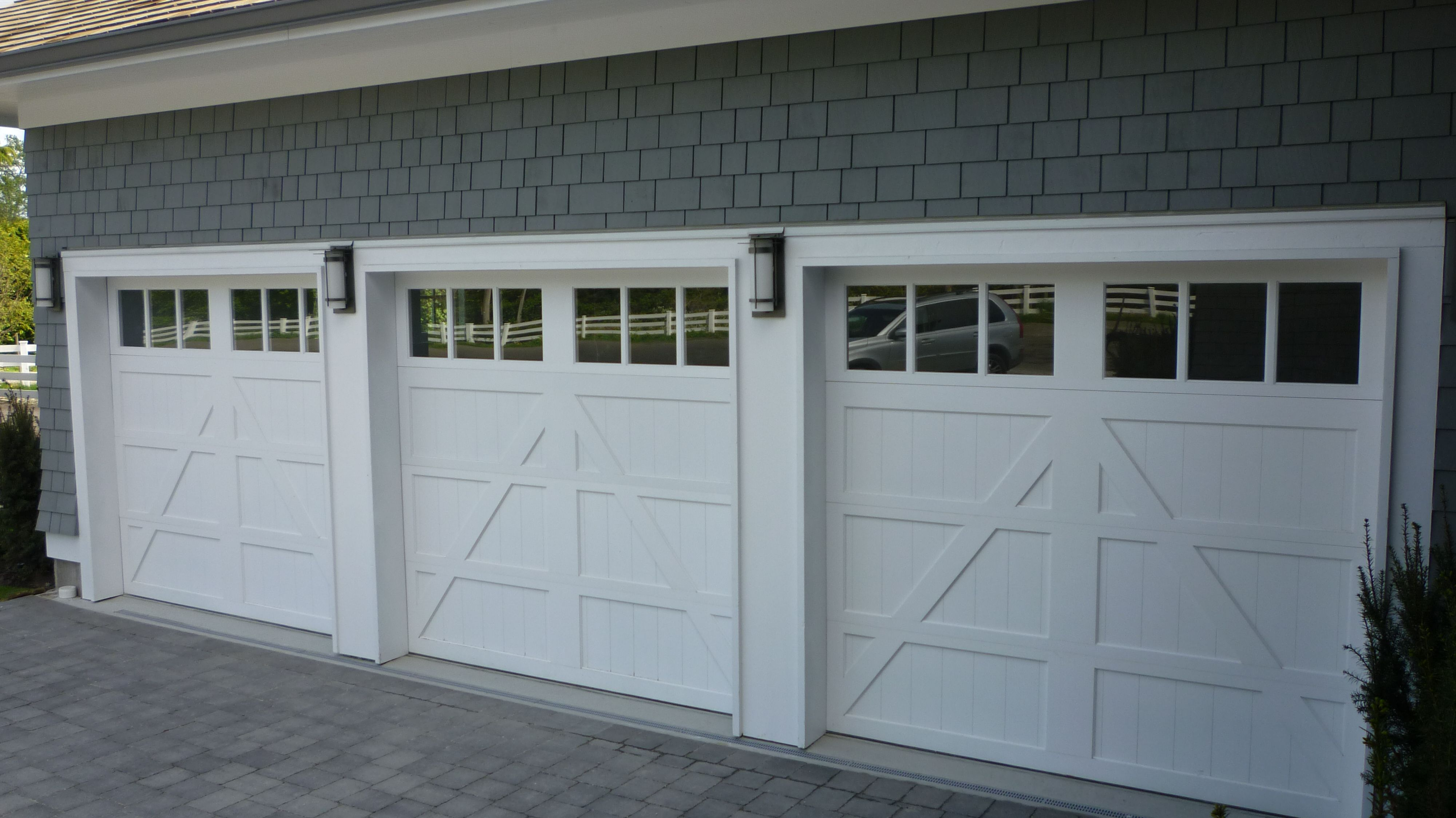 Craftsman style garage doors - Clopay Semi Custom Reserve Collection Wood Carriage House Style Garage Doors Design 6 With