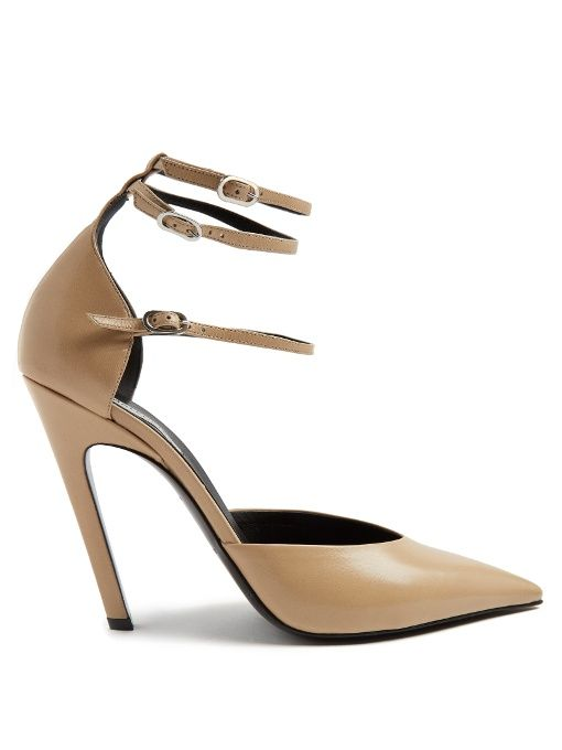 dcdc3b6ff1a7 BALENCIAGA Slash Triple-Strap Leather Pumps.  balenciaga  shoes  pumps