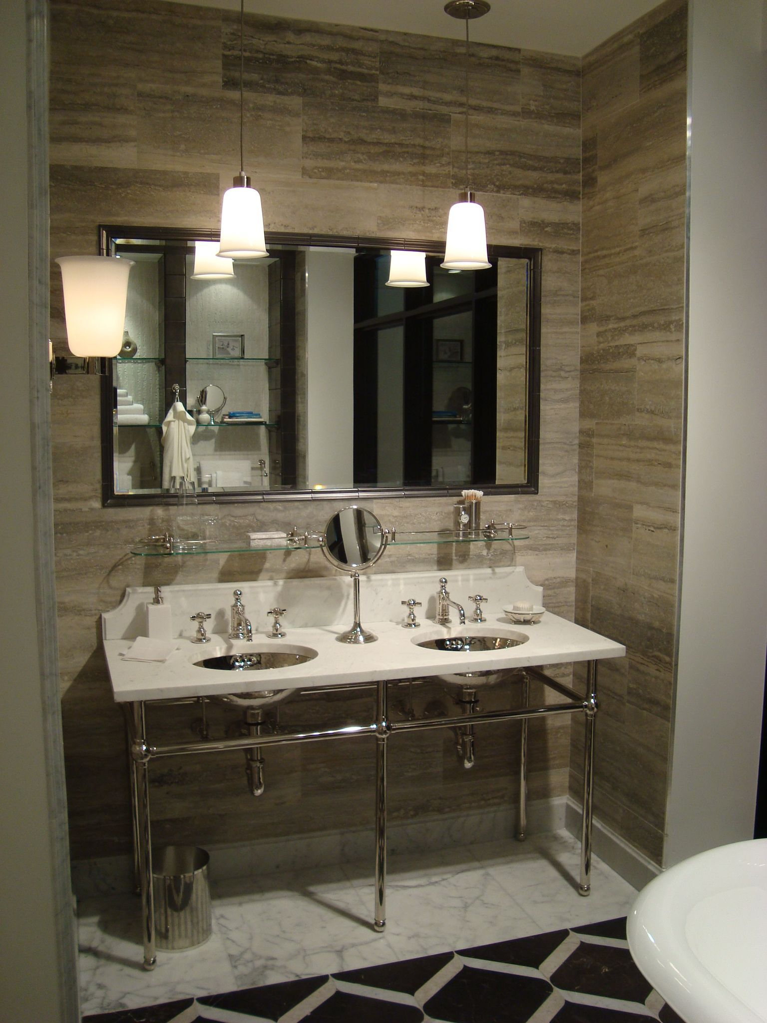 bathroom display in the miami showroom miami showroom pinterest waterworks showroom and miami