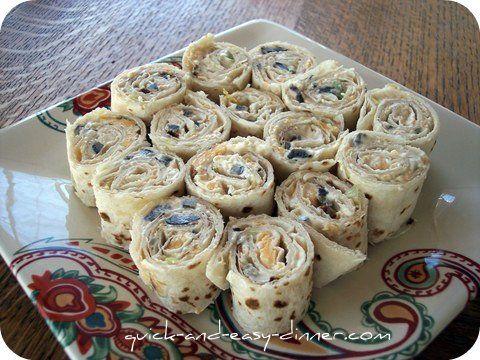 Tortilla Pinwheels. easy recipe