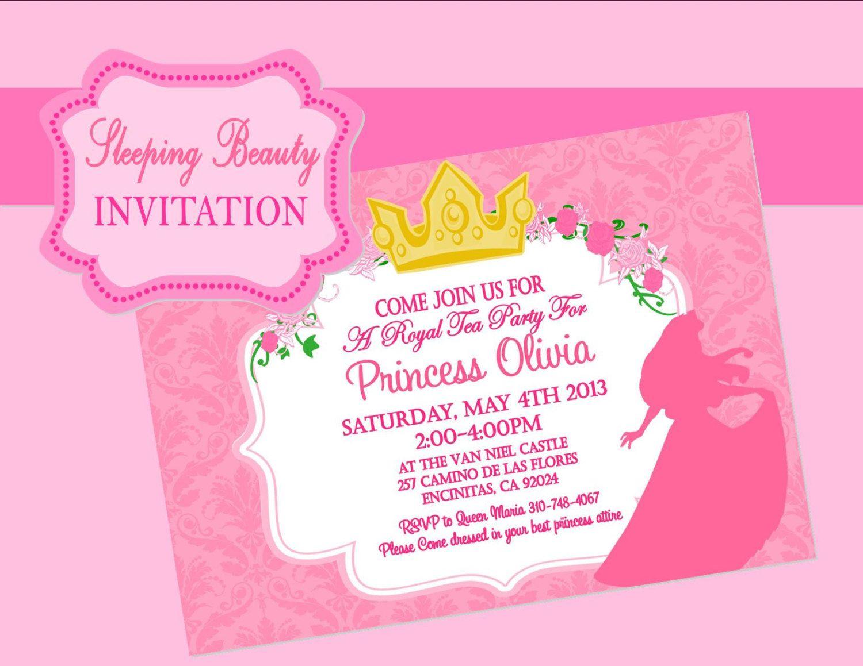 Sleeping Beauty Party - Invitation - Disney Princess Party - Aurora ...