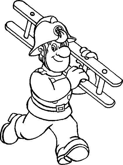 Dibujos de bomberos para Colorear pagina 3  Bomberos  Pinterest