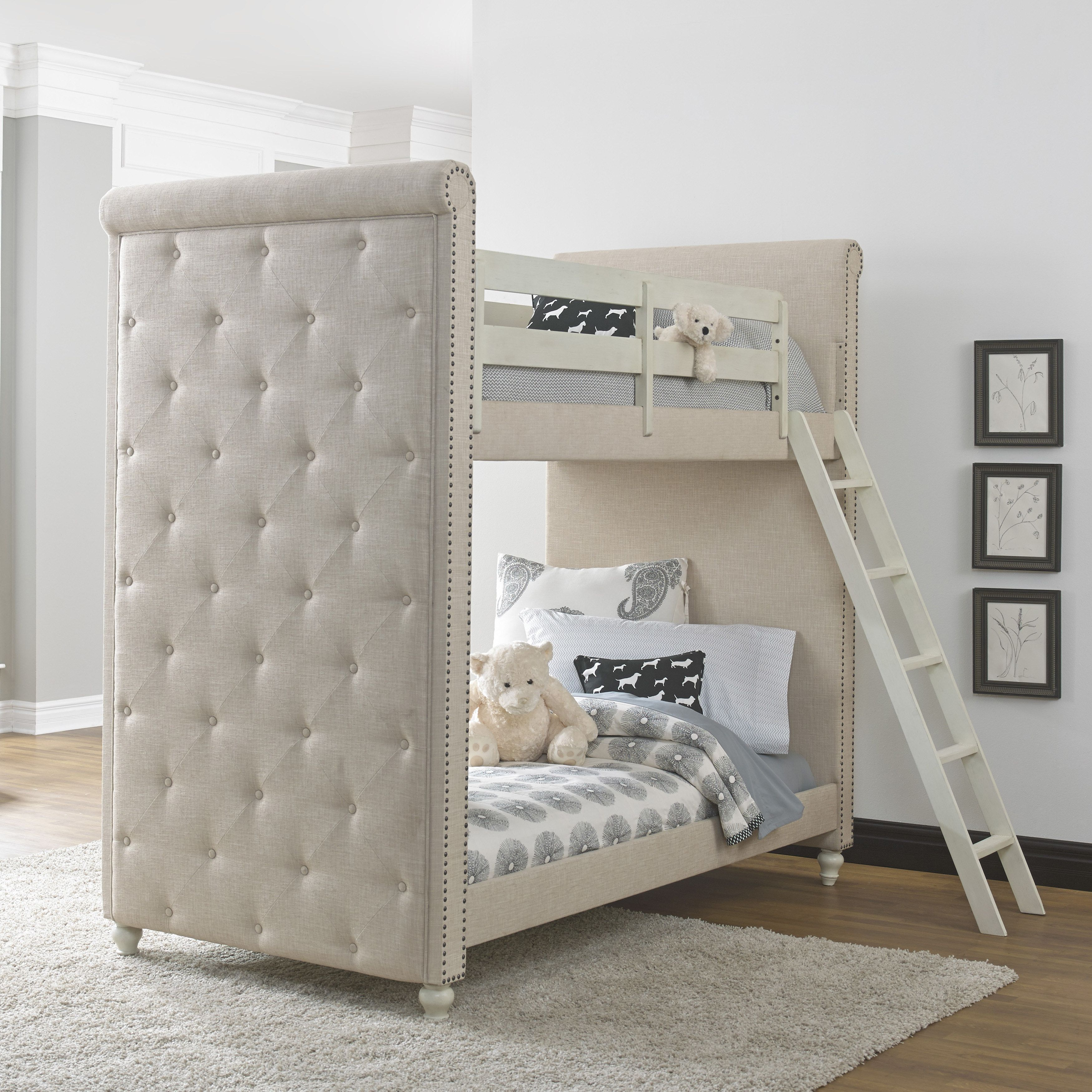 Pulaski Madison Youth White Upholstered Wood Twin Bunk Bed With