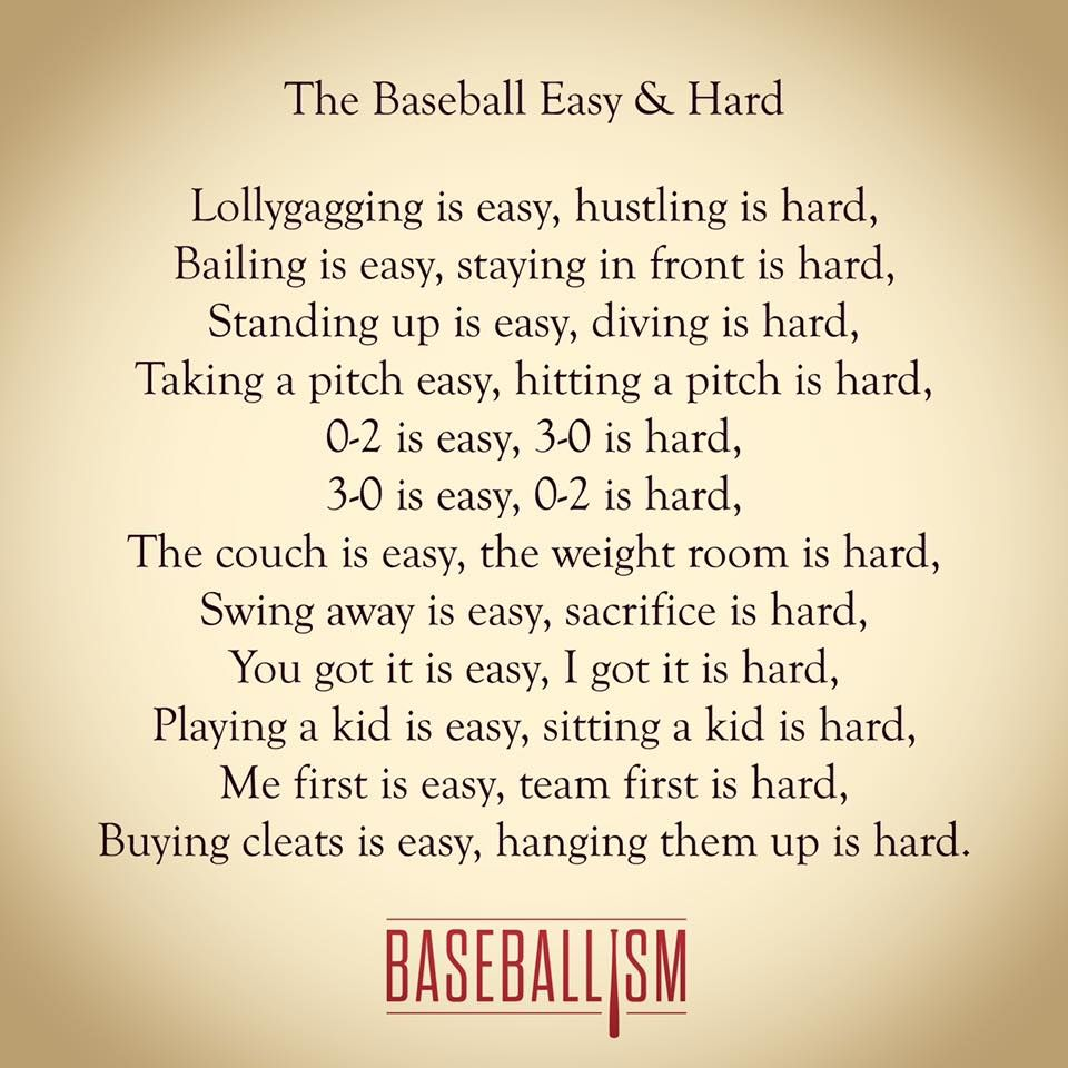 Photo of The Baseball Easy and Hard by Baseballism. Based off of The Easy and the Hard by…
