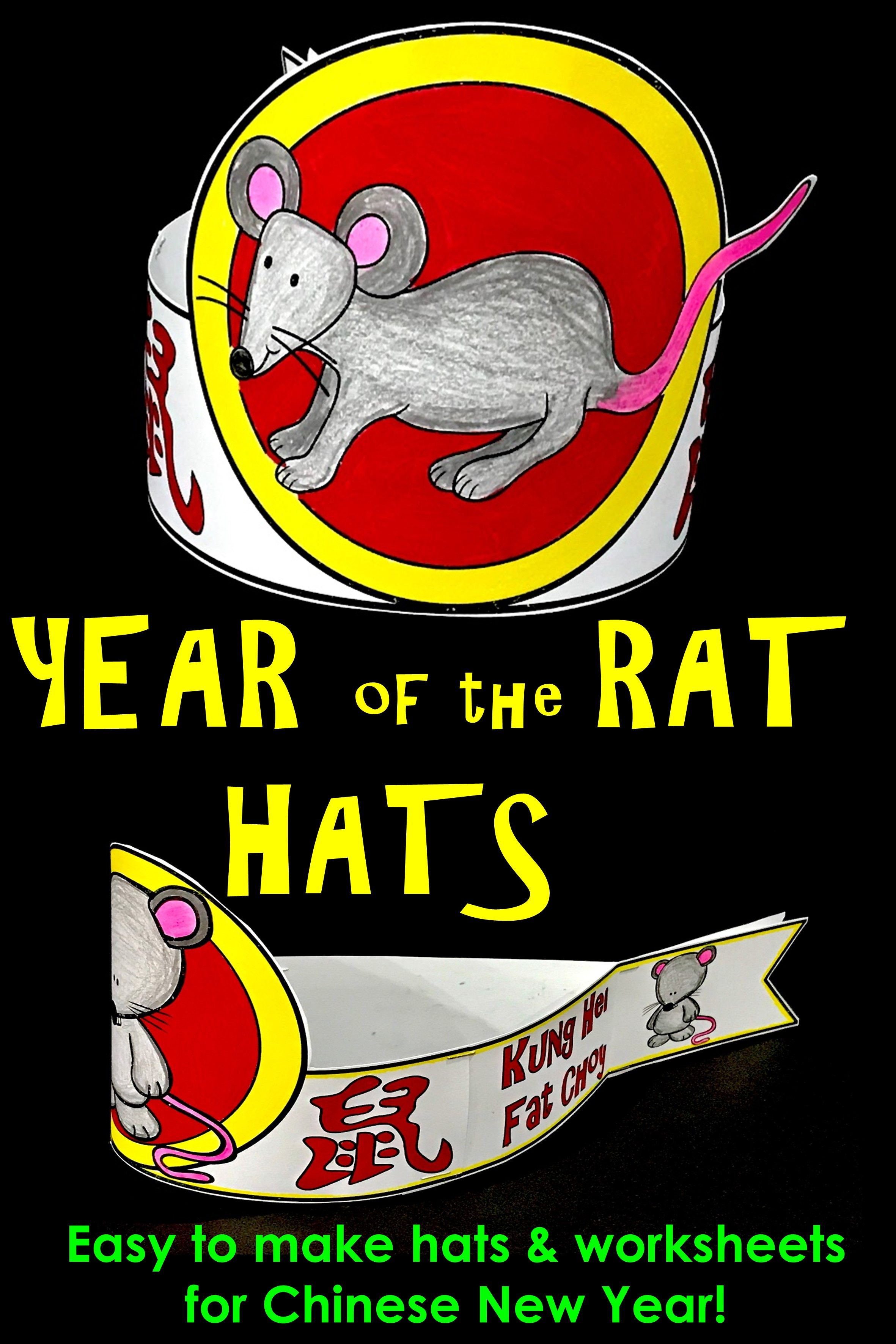 Chinese New Year Rat Hat :: Year of the Rat :: Chinese New Year Activities