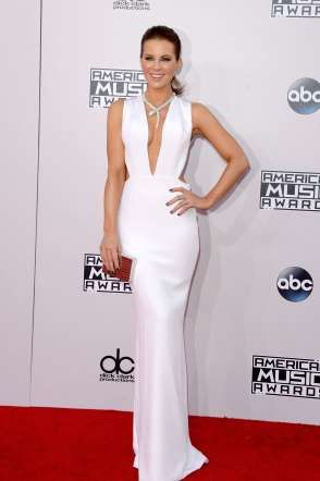 Kate Beckinsale attends the 2014 American Music Awards held at Nokia Theatre L.A. Live in Los Angeles on Nov. 23, 2014.