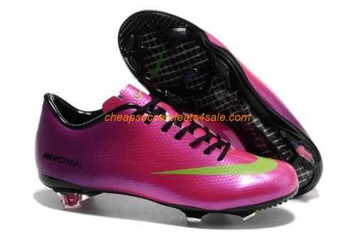 418de1729 Cheap Nike Mercurial Vapor IX FG Firm Ground mens leather Cristiano Ronaldo  CR7 Didier Drogba soccer cleats pink orange
