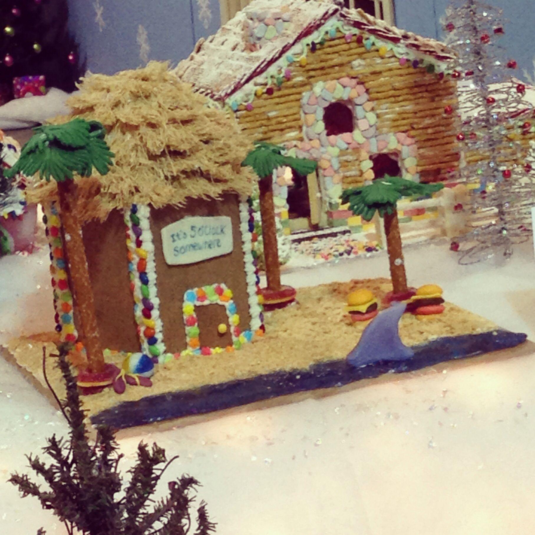 Beach Themed Gingerbread House: Jimmy Buffet Themed Gingerbread House