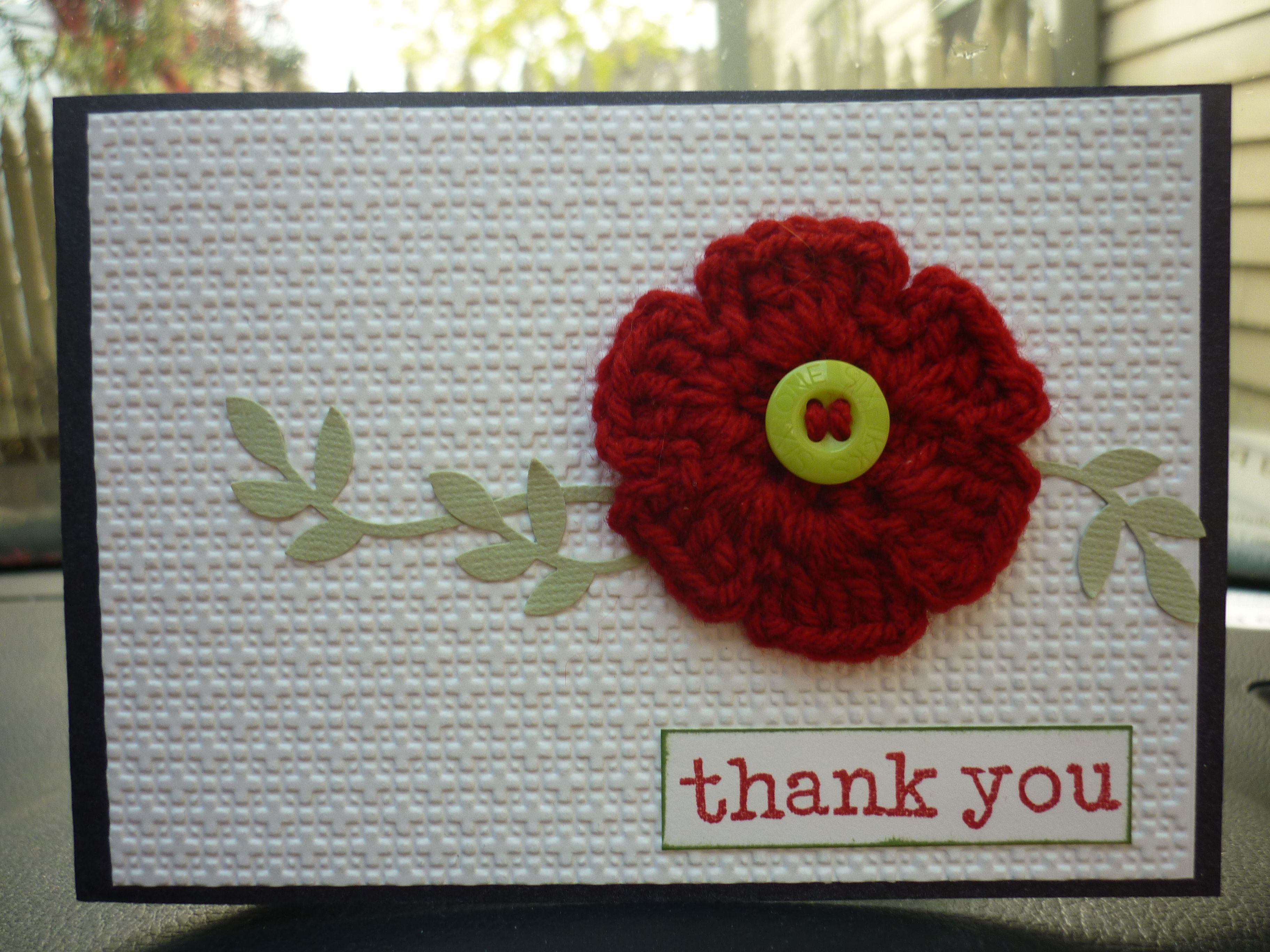 Card Making Ideas Thank You Part - 37: The Thank You Card That Iu0027ve Designed/made To Give To Those Friends