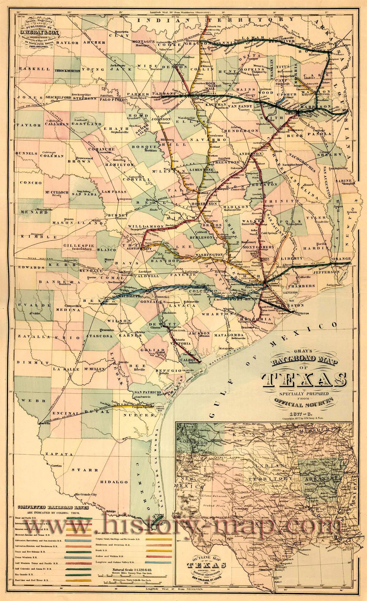 Railroad Map Of Texas.Texas Railroad Map 1877 1878 Rpg Art Western And Deadlands In