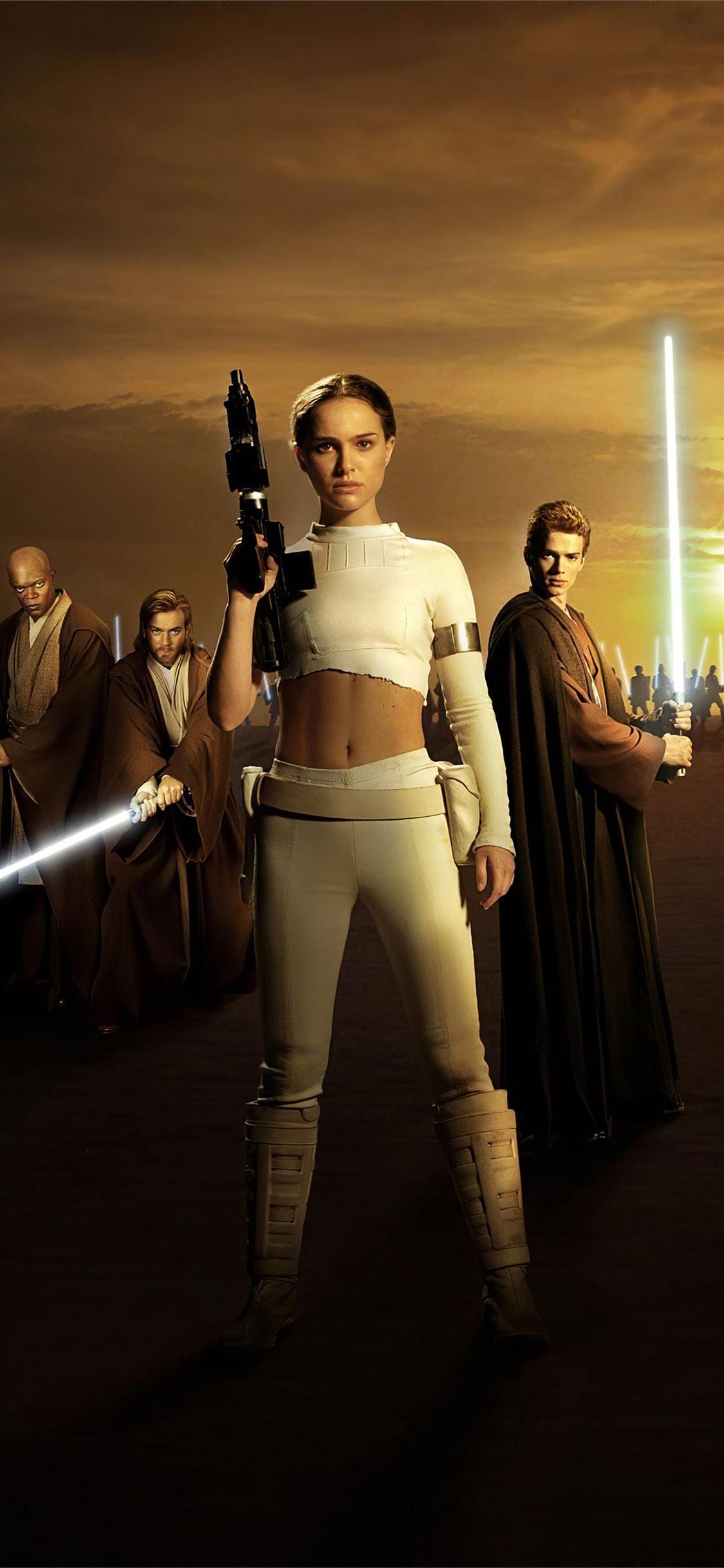Star Wars Episode Ii Attack Of The Clones Natalie Starwars Movies 4k Natalieportman Poster I In 2020 Star Wars Episode Ii Star Wars Actors Star Wars Episodes