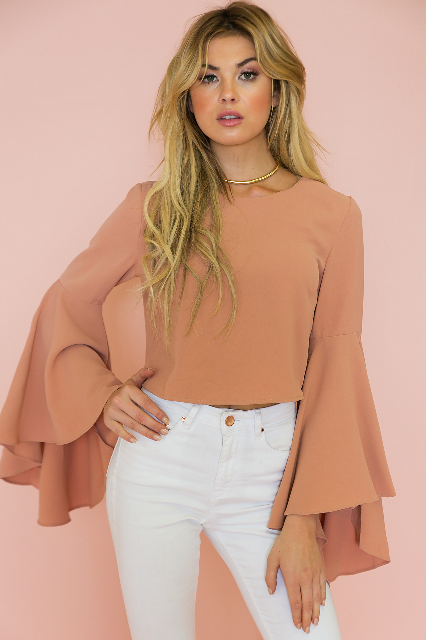f9d515f4d216c Evelyn Bell-Sleeve Top - Terracotta | Best of What's Haute | Tops ...