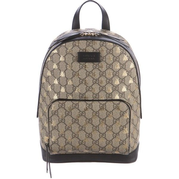 e6ad7e9107f Pre-owned Gucci 2016 GG Supreme Bees Backpack (1