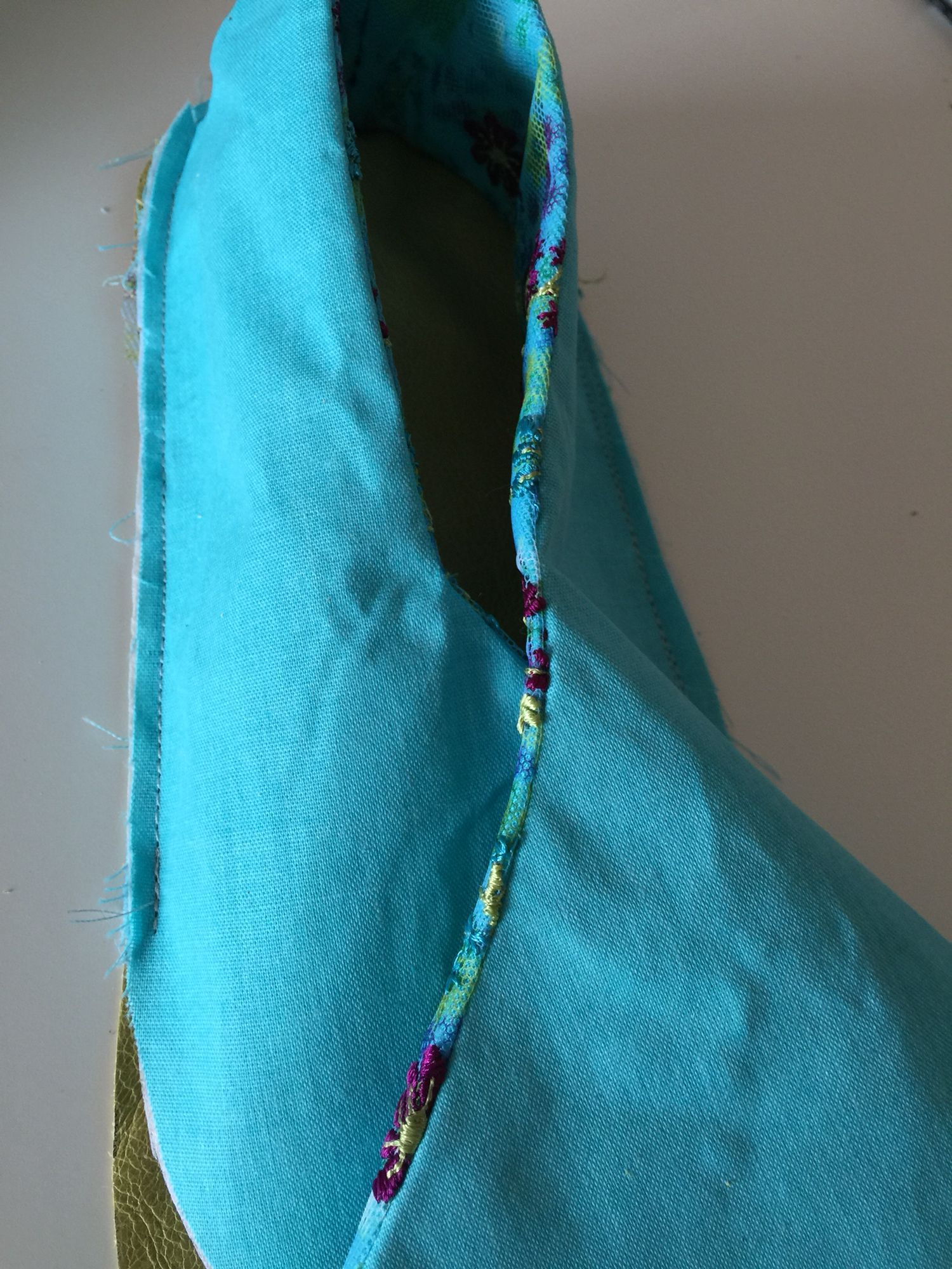 Sew from side around back to other side leaving front free